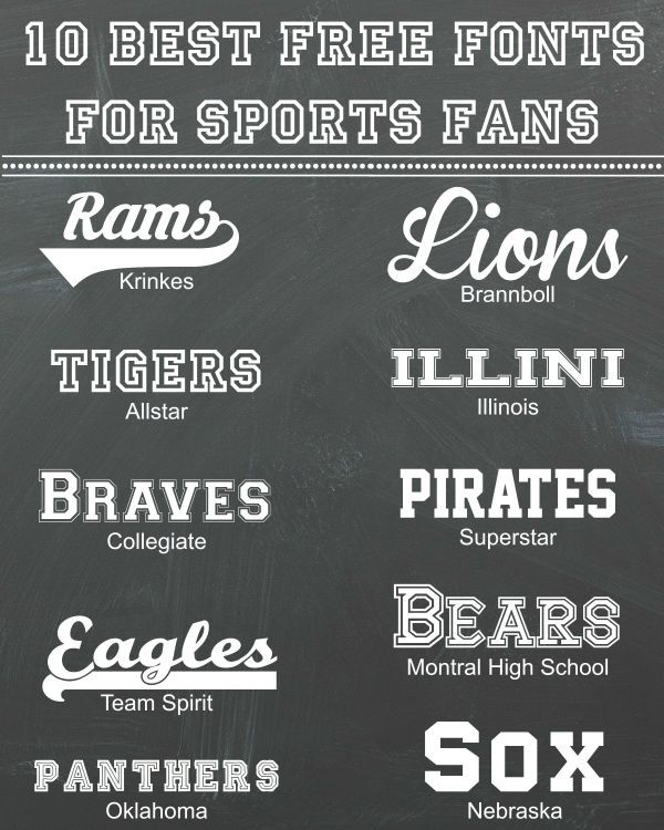 10 Best Free Fonts for Sports Fans Blog Inspiration Pinterest