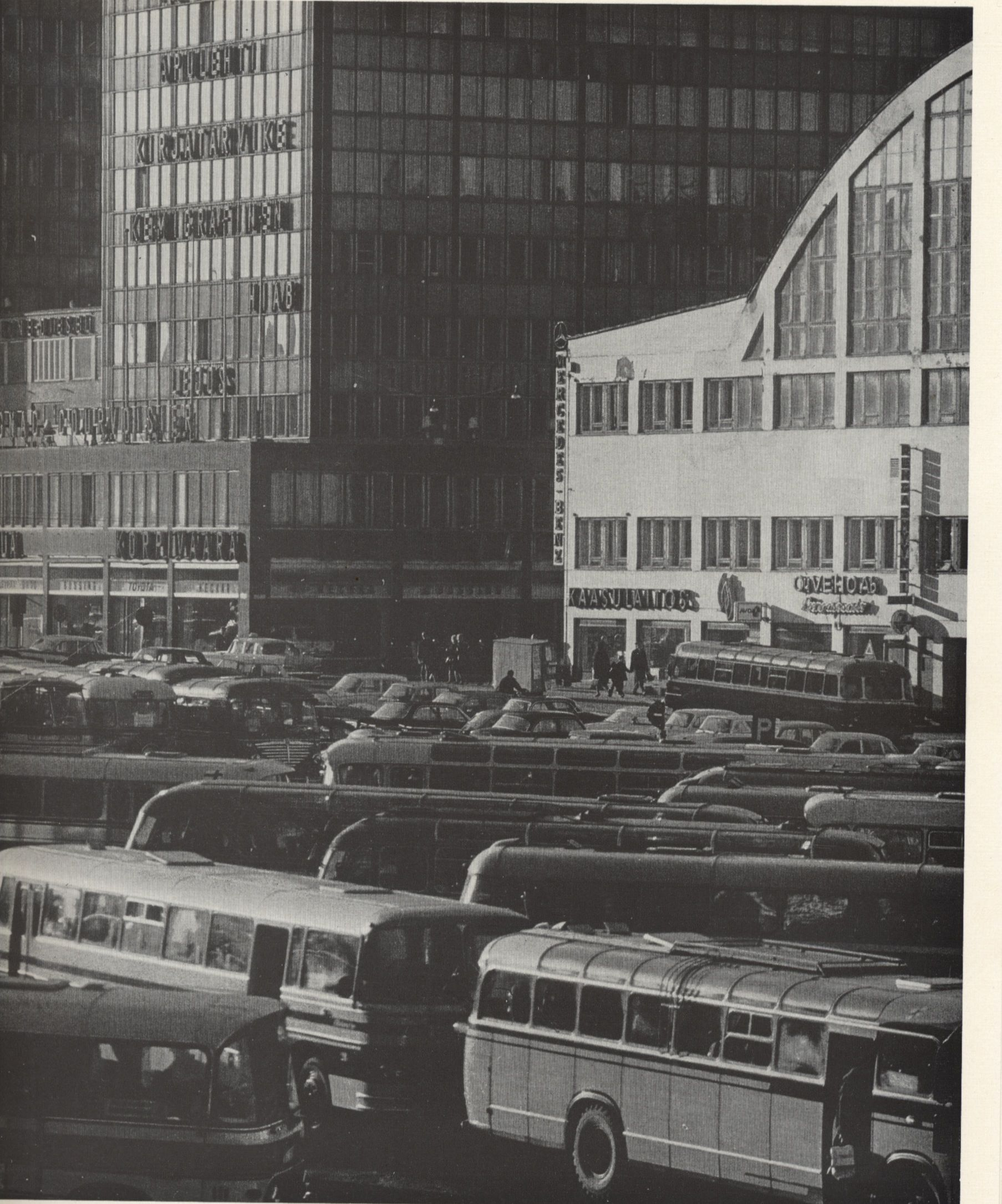 Kamppi in 1966. Photo: Asko Rysä. Published in Helsinki and Her People.