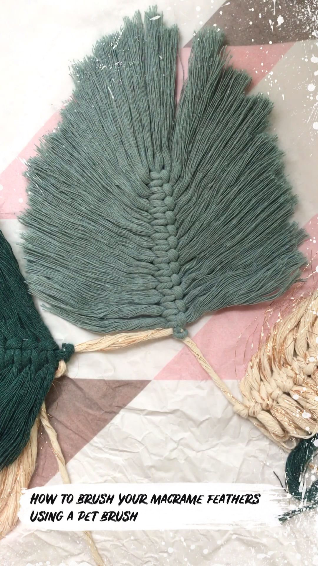 How to brush a macramé feather