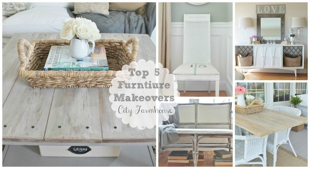 Top 5  BUDGET FRIENDLY Furniture Makeovers-City Farmhouse
