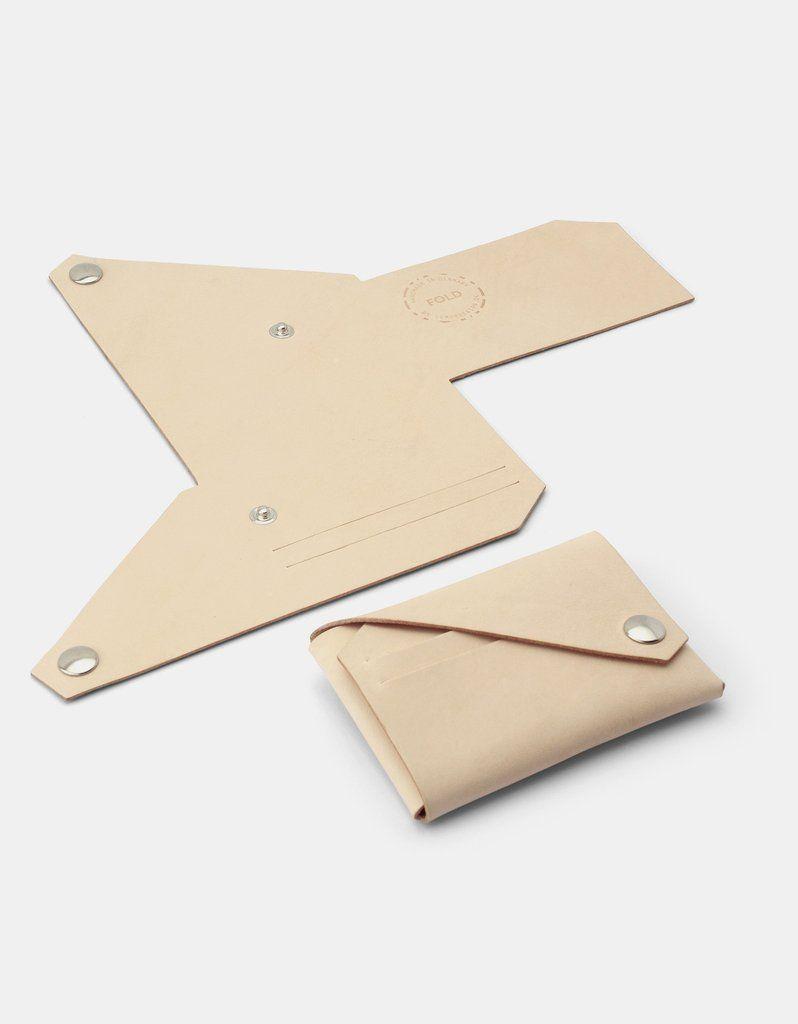 Lemur Fold Wallet, Natural | Wallets | Pinterest | Cuero, Patrones ...