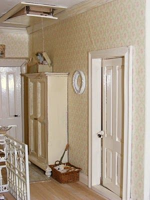 Hallway With Pull Down Attic Stairs For My Space In Attic The