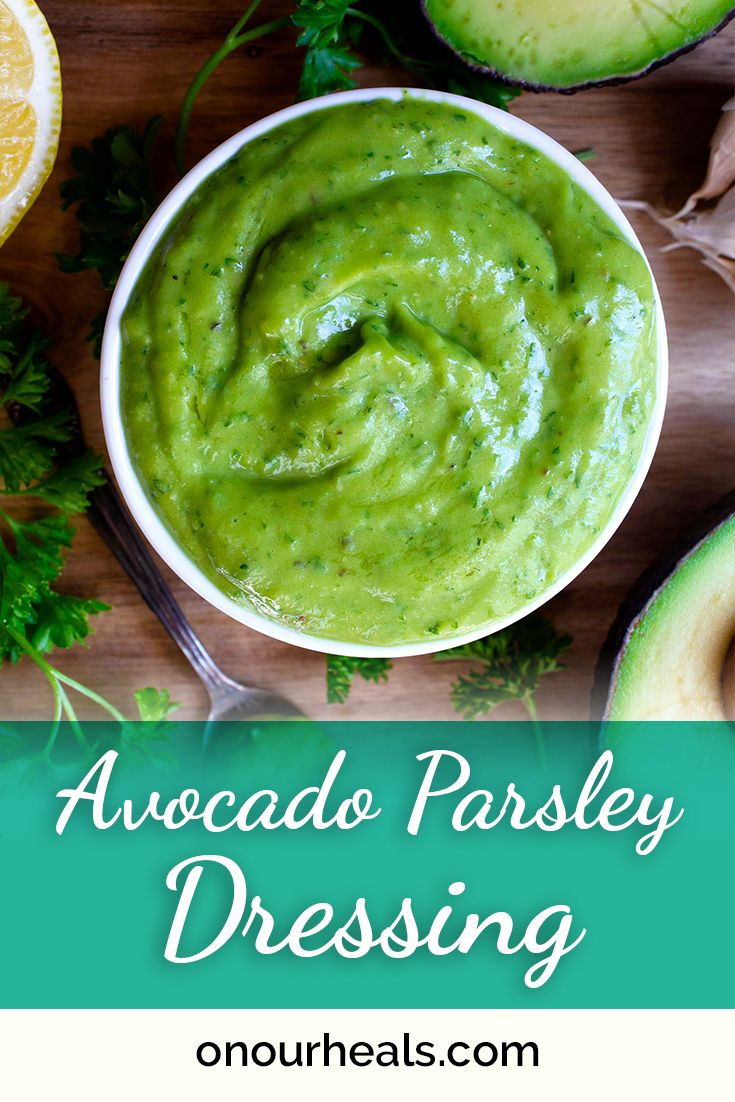 This Avocado Parsley Dressing is such a simple sauce to make and it goes with everything. Used as a
