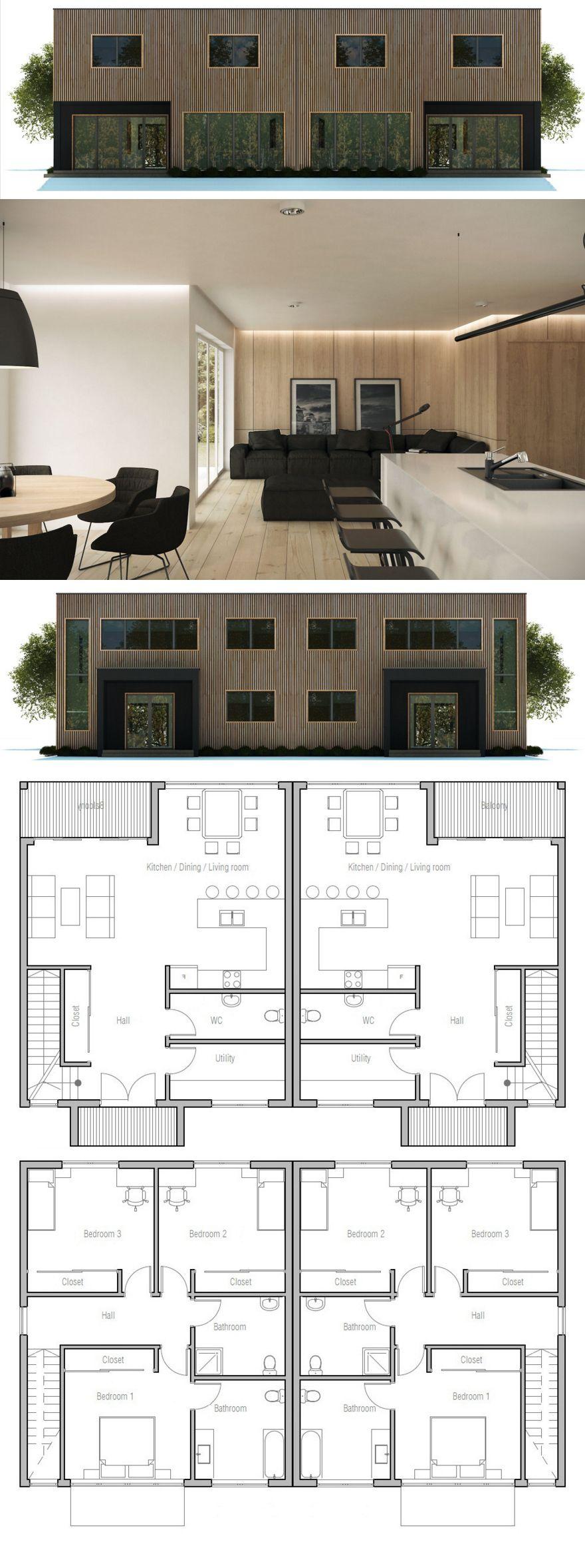 Doppelhaus haus pinterest grundrisse for Zweifamilienhaus plan