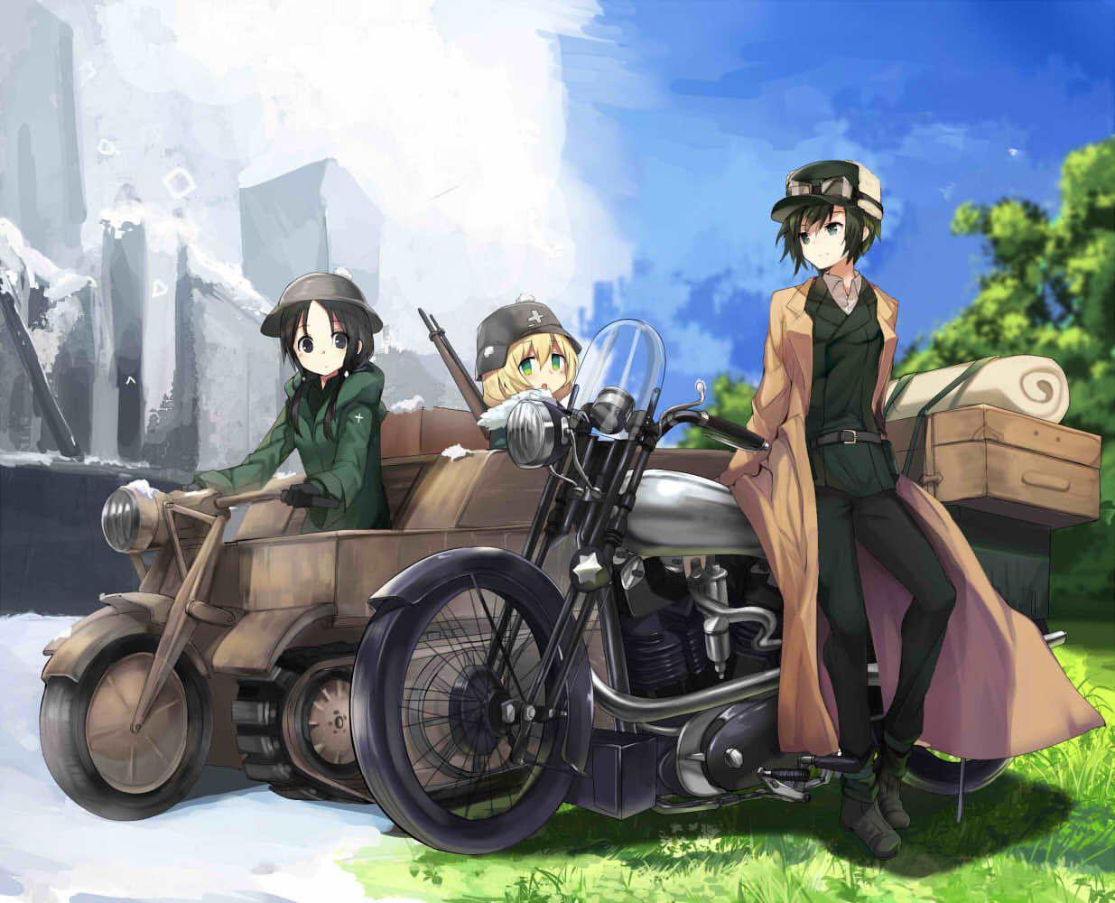 Shoujo Shuumatsu Ryokou Anime Friendship Anime Crossover Anime