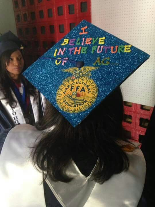 agricultural ffa personalized graduation cap by senior chapter
