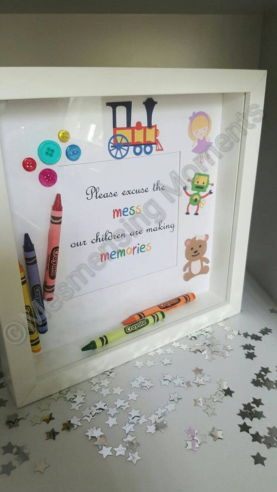 Please excuse the mess my children are making memories box frame ...