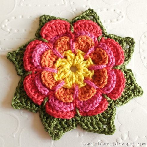 Crochet Flower Tutorial Flores Pinterest Ganchillo Crochet - Flores-ganchillo