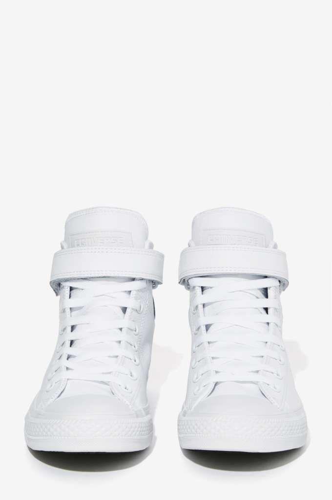 5b8c90cc9860 Converse Chuck Taylor Brea Leather Sneaker - White - Sneakers ...