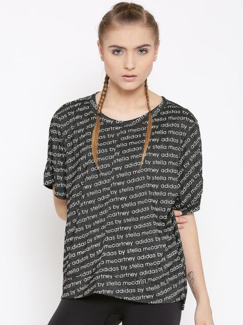 When an outstanding designer and an activewear giant collaborate to make a workout wardrobe, one better pay heed. This tee from Stella McCartney for Adidas is a steal, don't think twice. Boxy T-shirt,Boxy tee,Adidas Originals,athleisure,athleisure clothing,athleisure tee,all over print,printed T-shirt