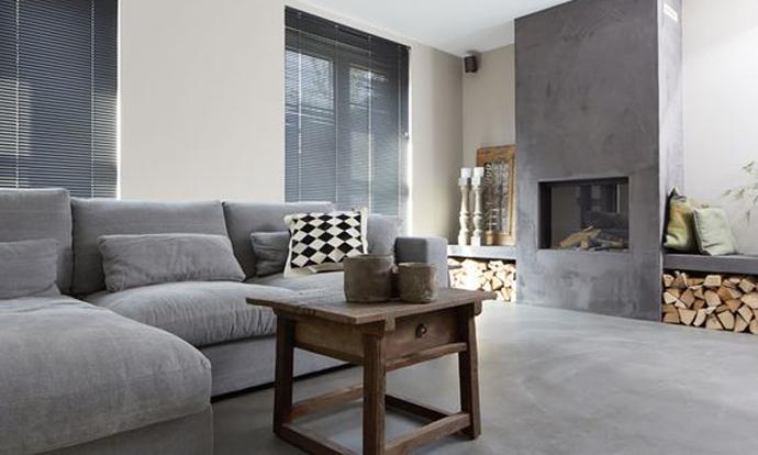 Interior inspiration beton haard openhaard en voor het huis