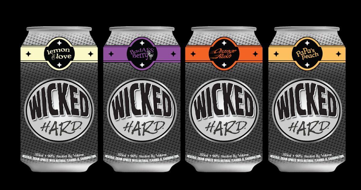 Verzamelingen Beer STICKER ~*~ WICKED HARD Carbonated Lemon Love Cocktail ~*~ Denver COLORADO Papieren reclame