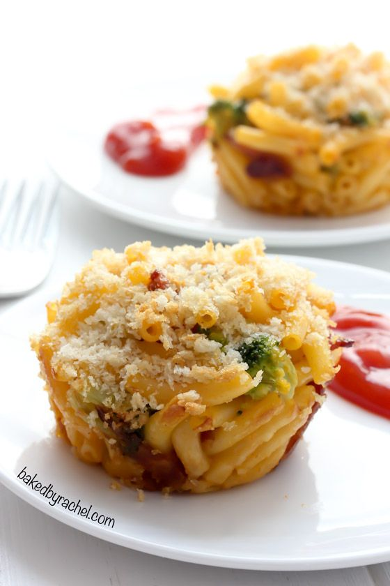 Mac And Cheese Cups With Broccoli And Bacon Recipe From