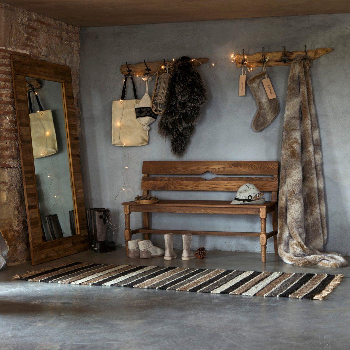 porte manteau bois flott for the home noir blanc bois pinterest hall architecture. Black Bedroom Furniture Sets. Home Design Ideas
