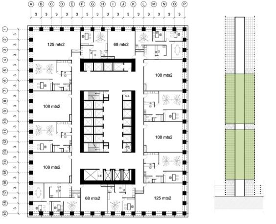 Skyscraper Carolina Ortiz Archinect Office Building Plans Office Floor Plan Hotel Floor Plan