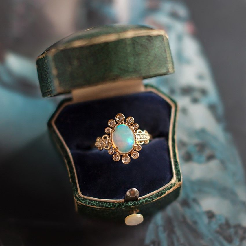 The Diamond Collection – Beautifully Unique Engagement Rings from Claire Pettibone for Trumpet and Horn