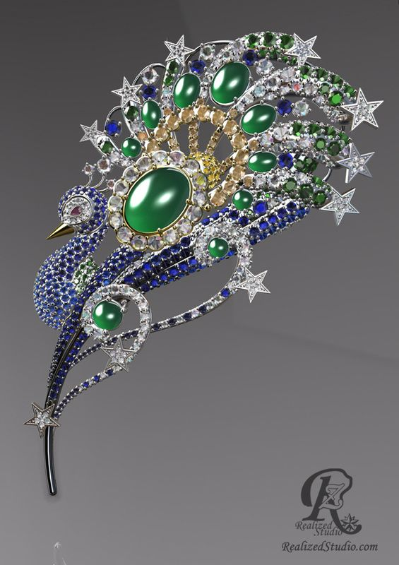 Starry Gala Second Peacock Jewelry Design Contest Chinese