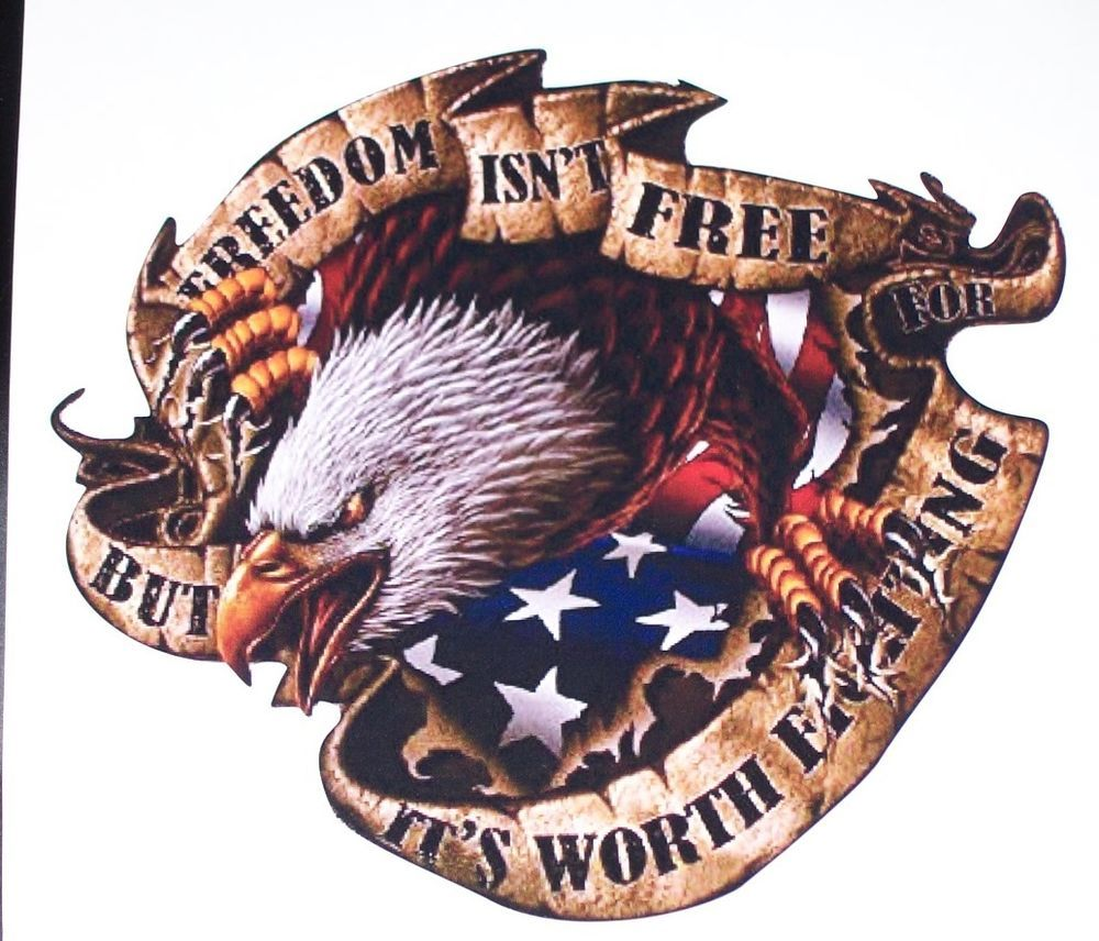 American Flag Eagle Freedom Isnt Free Bed Side Or Window Decal Decals Sticker Ebay American Flag Eagle American Flag Decal Patriotic Pictures