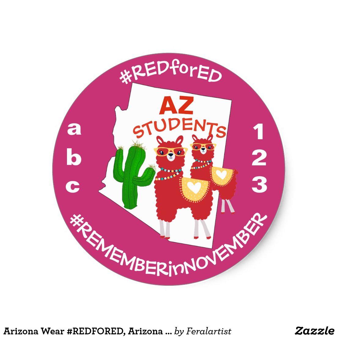 Arizona Wear Redfored Arizona Teachers Stickers