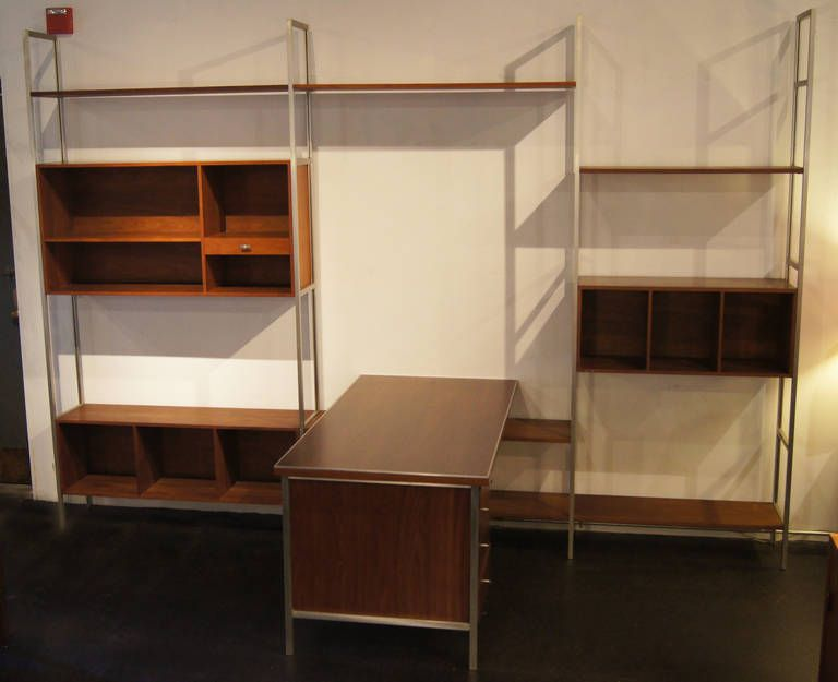 Modular Wall Unit Shelving System With Desk By Paul McCobb | From A Unique  Collection Of Antique And Modern Shelves At ...