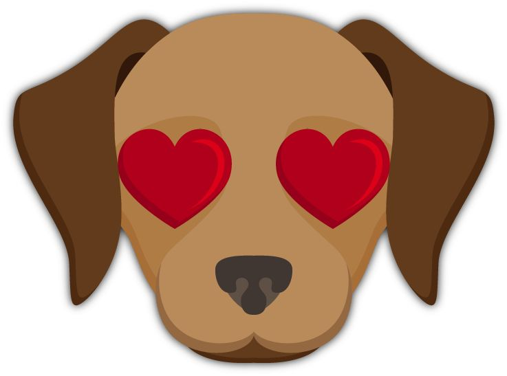 Heart Eyes Emoji Labrador Retriever Emoji Stickers For Imessage