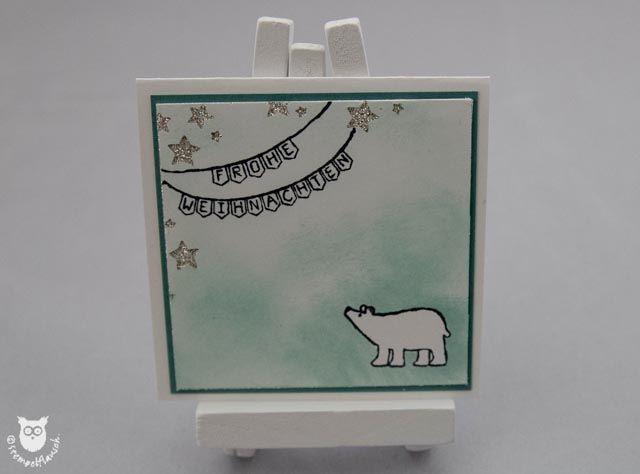 Stampin' Up! Minikarte Weiße Weihnachten