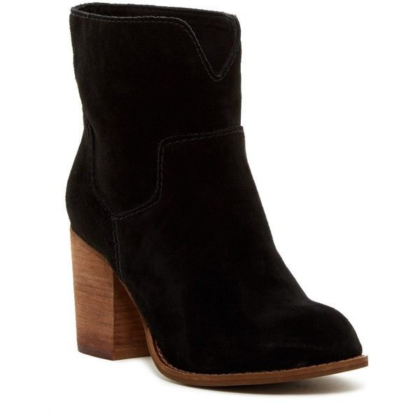 Splendid Murietta Bootie ($100) ❤ liked on Polyvore featuring shoes, boots, ankle booties, ankle boots, black, black suede bootie, black ankle booties, suede booties, suede ankle boots and black high heel booties