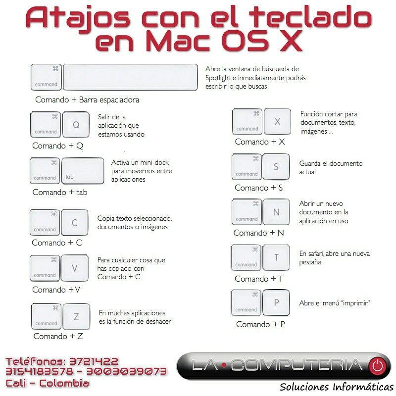 #trucosmac Atajos con el teclado en Mac OS X #macosx #macossierra Te sabes otro atajo? Comenta, compártelo