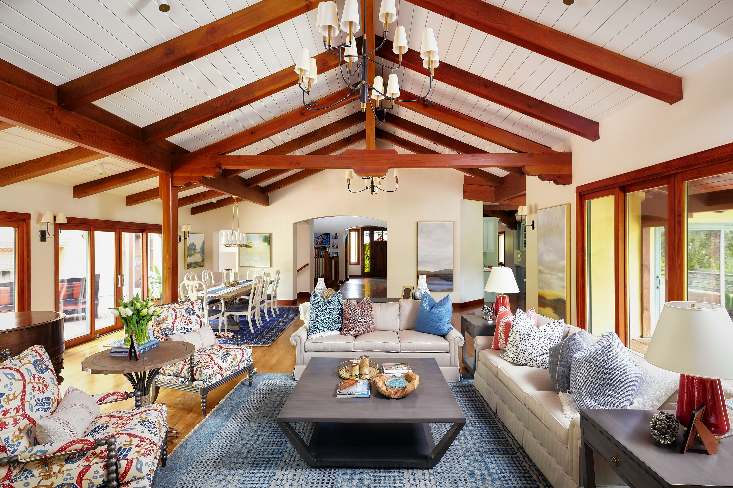 This Craftsman Great Room Is Welcoming With Its Warm Wood