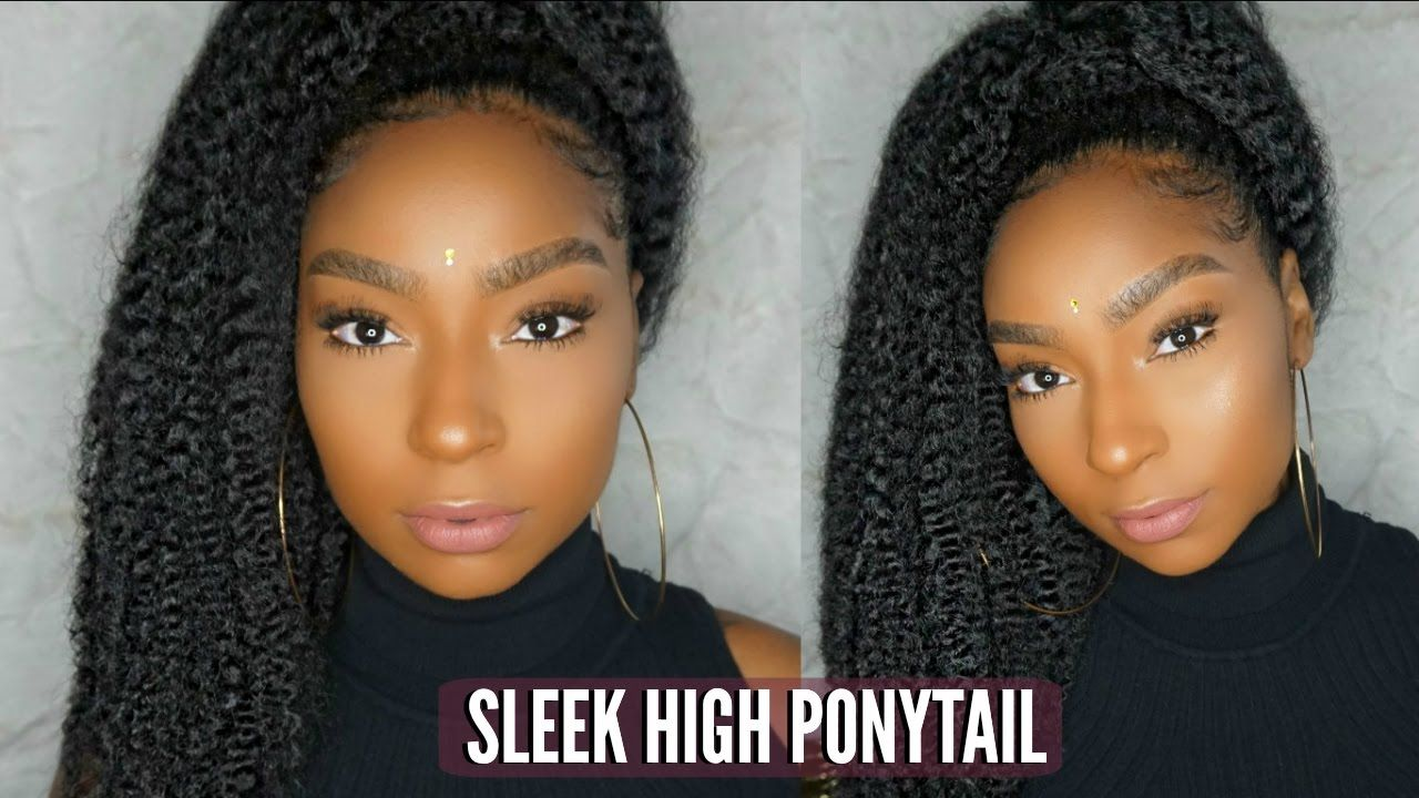 How To Quick Sleek Ponytail On Natural Hair Jamexicanbeauty Natural Hair Styles Sleek Ponytail Ponytail