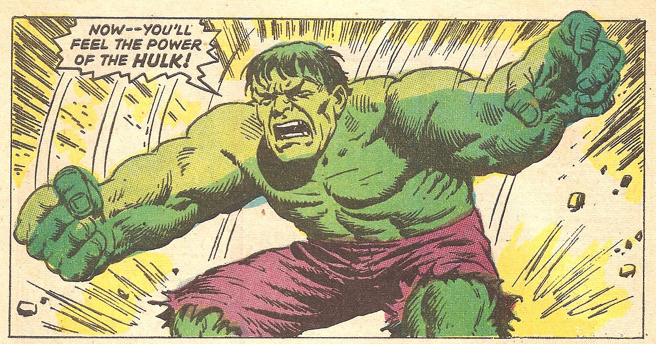 Now Feel The Power Of The Hulk! (by Herb Trimpe & John Severin from The Incredible Hulk #108, 1968)