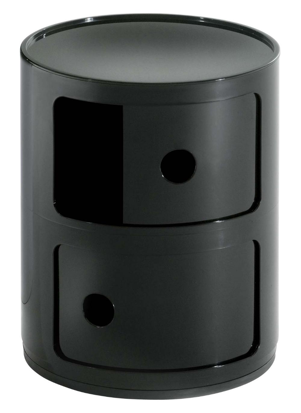 Rangement Componibili Kartell Noir Made In Design En 2020 Kartell Componibili Kartell Meuble Rangement