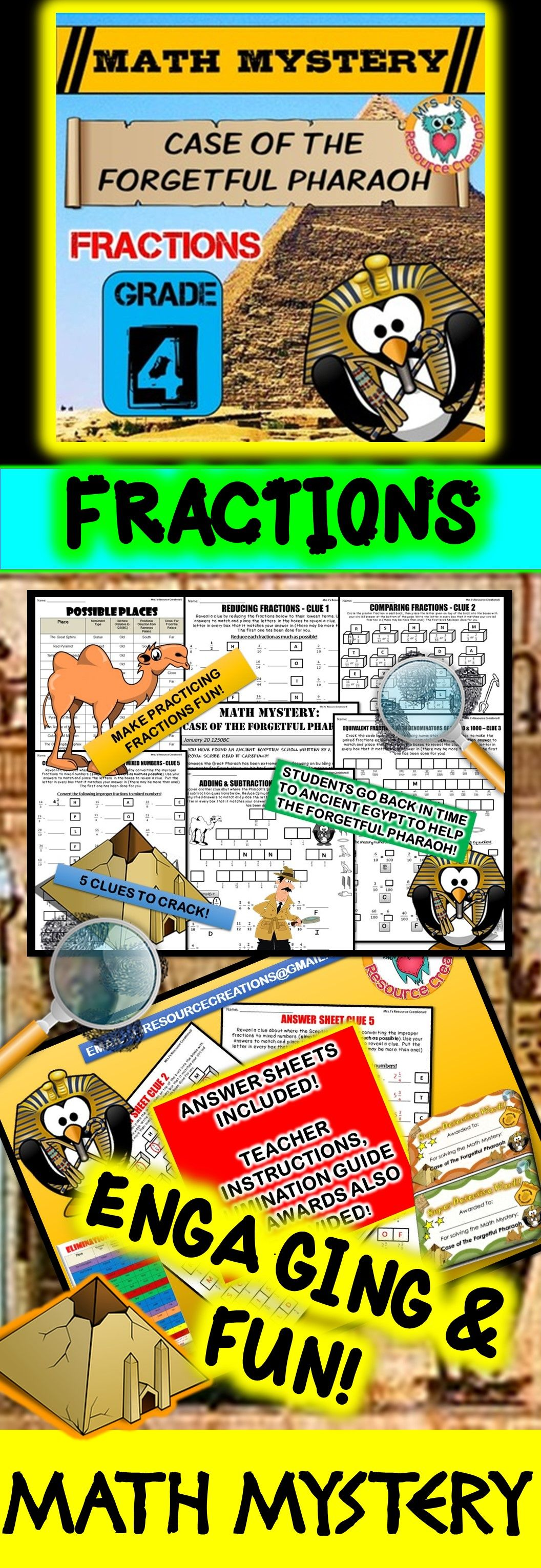 4th Grade Fractions Review