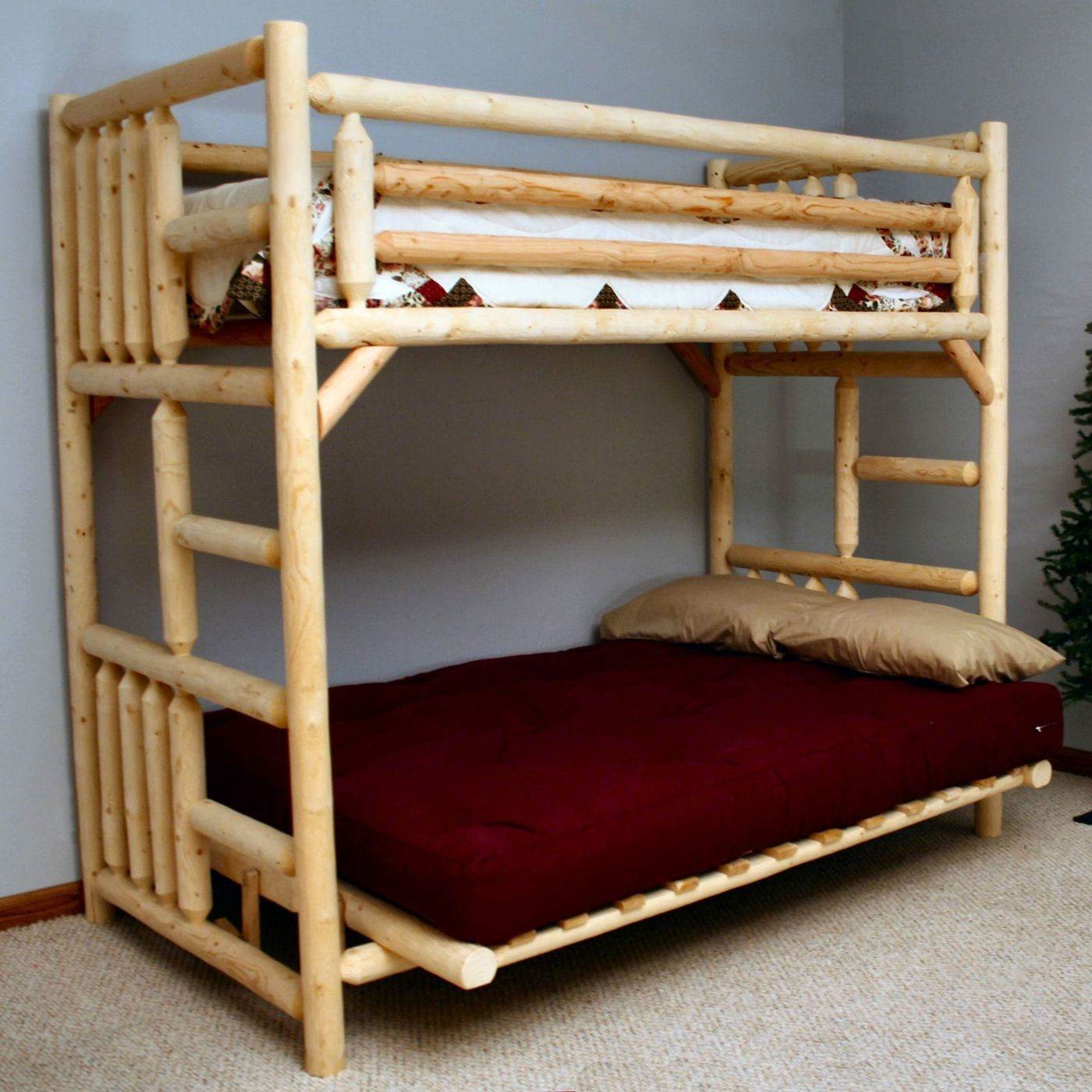 Lakeland Mills Bbtf38 L Twin Over Futon Bunk Bed Rustic Country