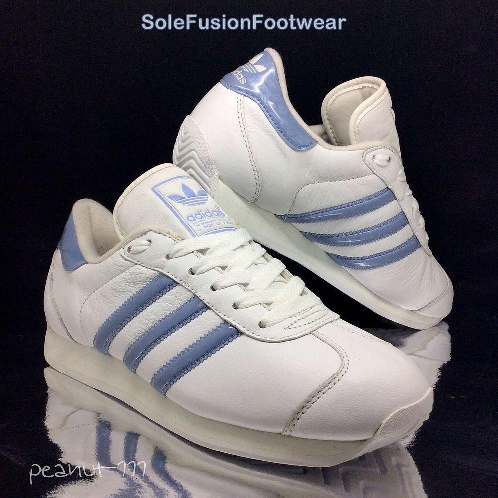 Adidas Country    mujer Trainers blanco / Lila SZ 6 raras VTG zapatilla US bccd33