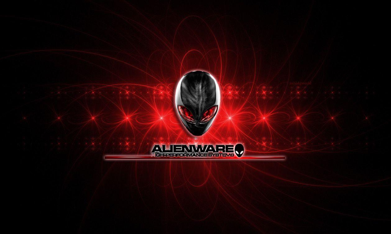 Alienware Desktop Background Red Alien Head Light Flares 1258x754 Alienware Desktop Alienware Backgrounds Desktop