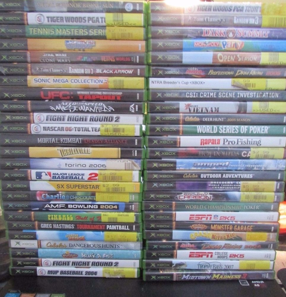 Lot of 50 Original XBOX Video Games Bundle No Duplicates