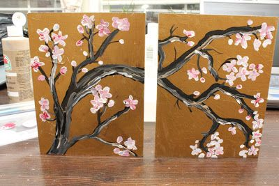 365 Days To Simplicity Diy Show Off Diy Decorating And Home Improvement Blog Cherry Blossom Wall Art Cherry Blossom Art Japanese Wall Art