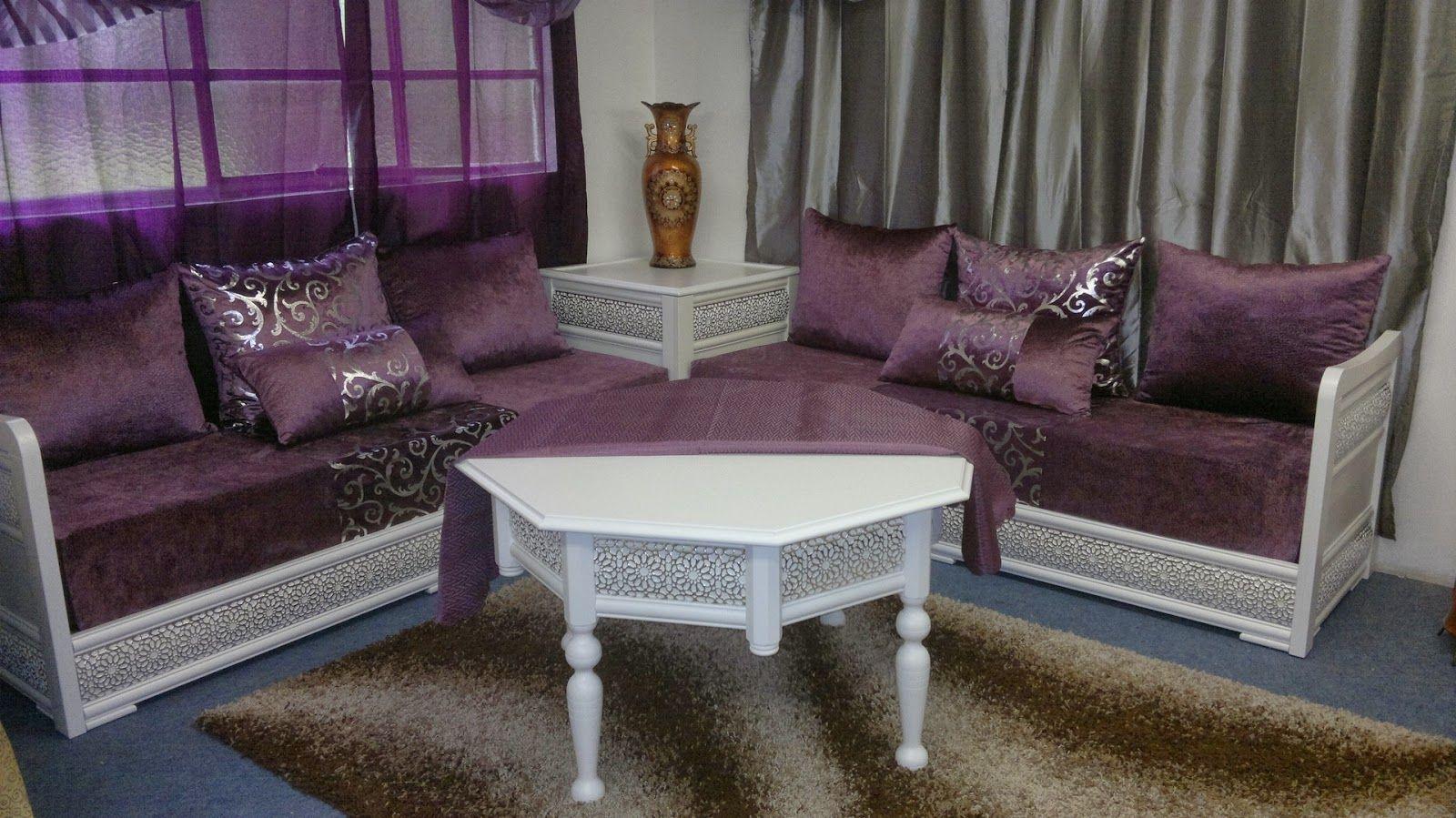 Salon Marocain 2018 Expert Decorator Decoration Salon  # Table Tv Maroc