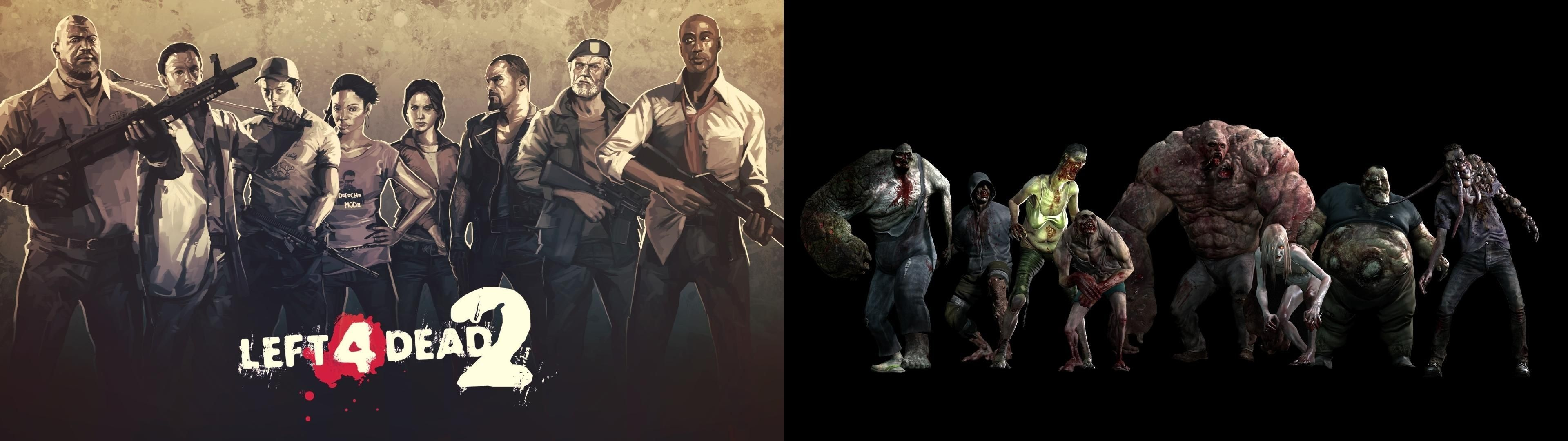 Res 3840x1080 I Made A Dual Monitor Left 4 Dead 2 Wallpaper Because I Didn T Find Wallpaper View Wallpaper Character Wallpaper