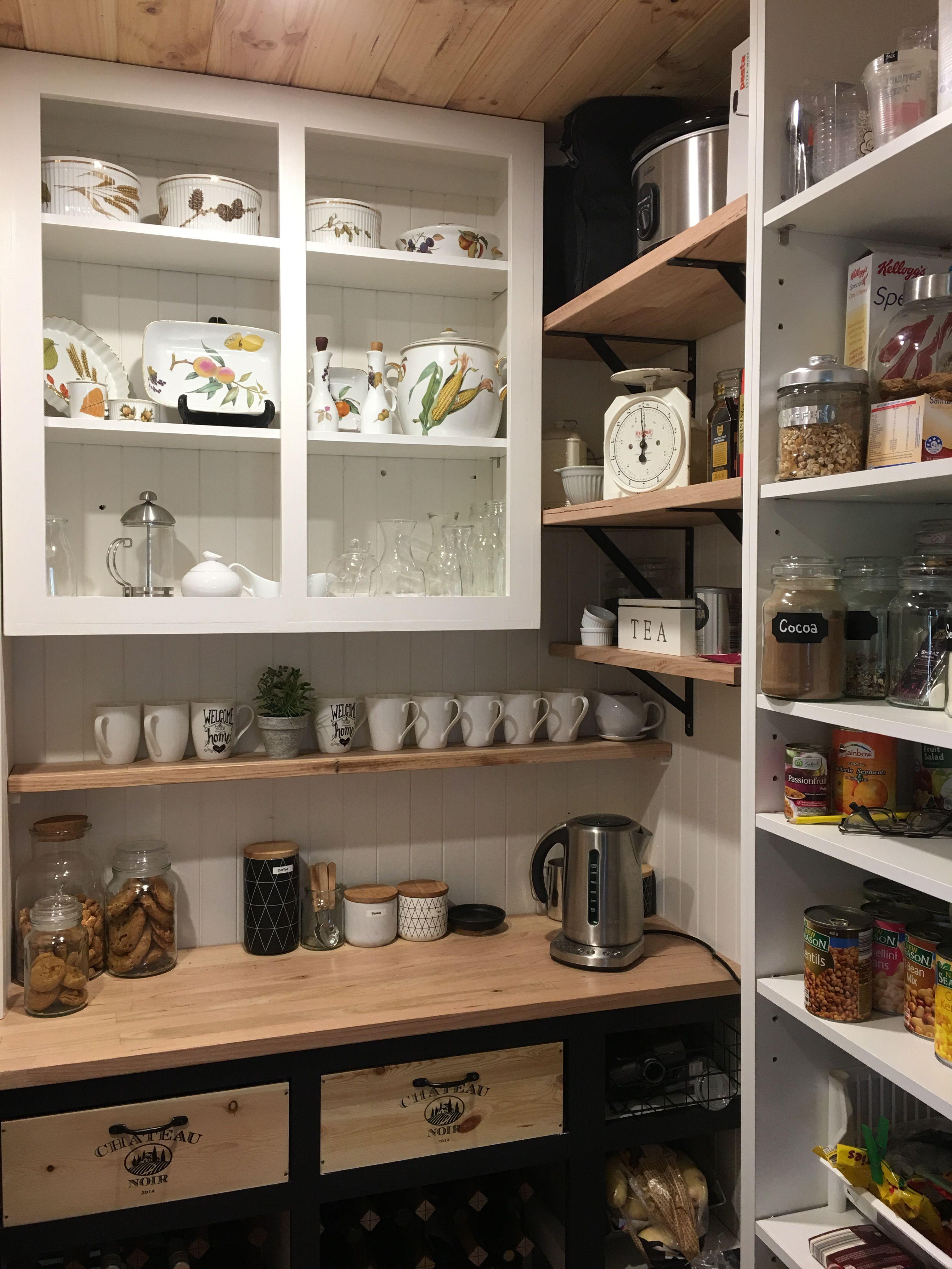 Our Diy Butlers Pantry Kitchen Renovation Diy Pantry Shelves Kitchen Decor