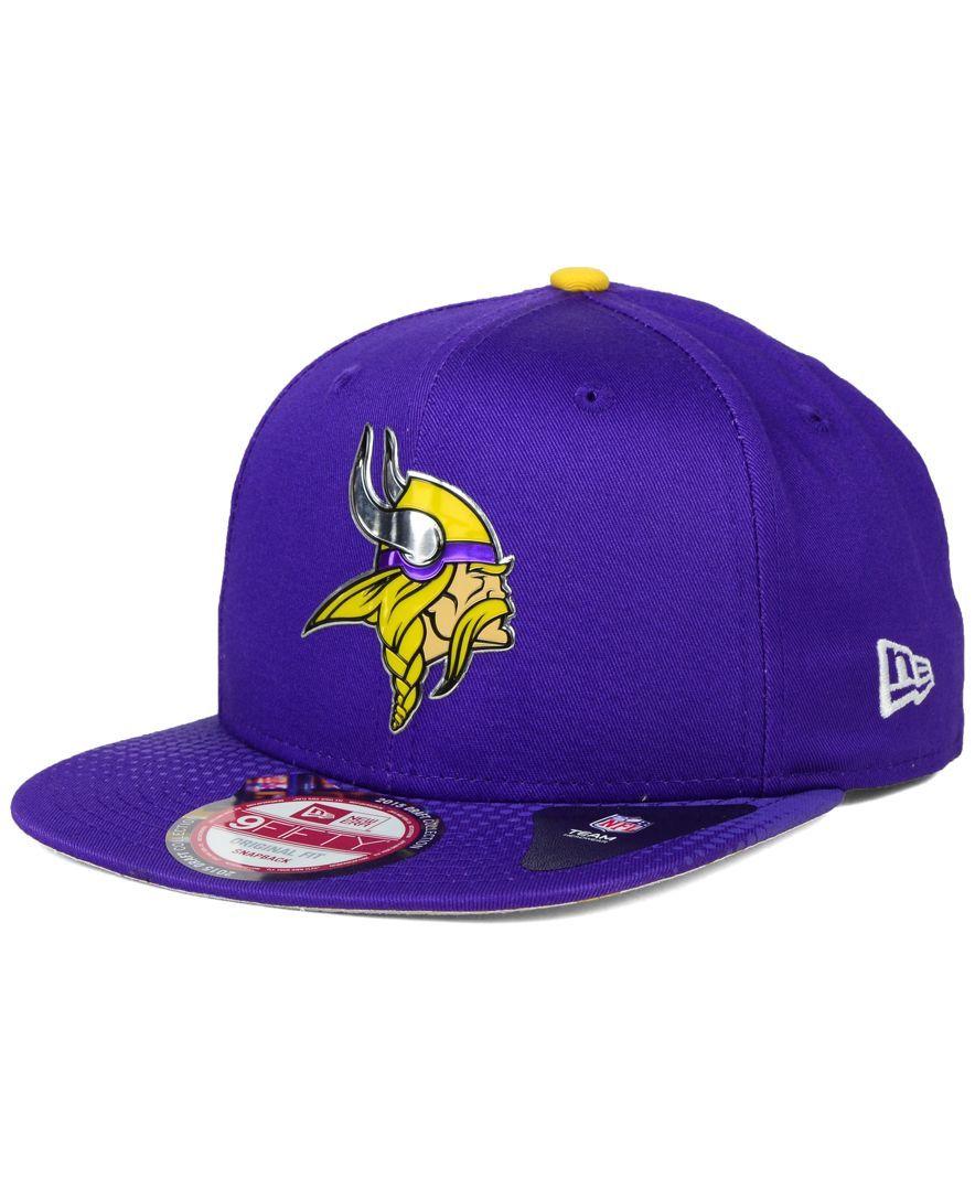 New Era Minnesota Vikings 2015 Nfl Draft 9FIFTY Snapback Cap ... 9a27fca36