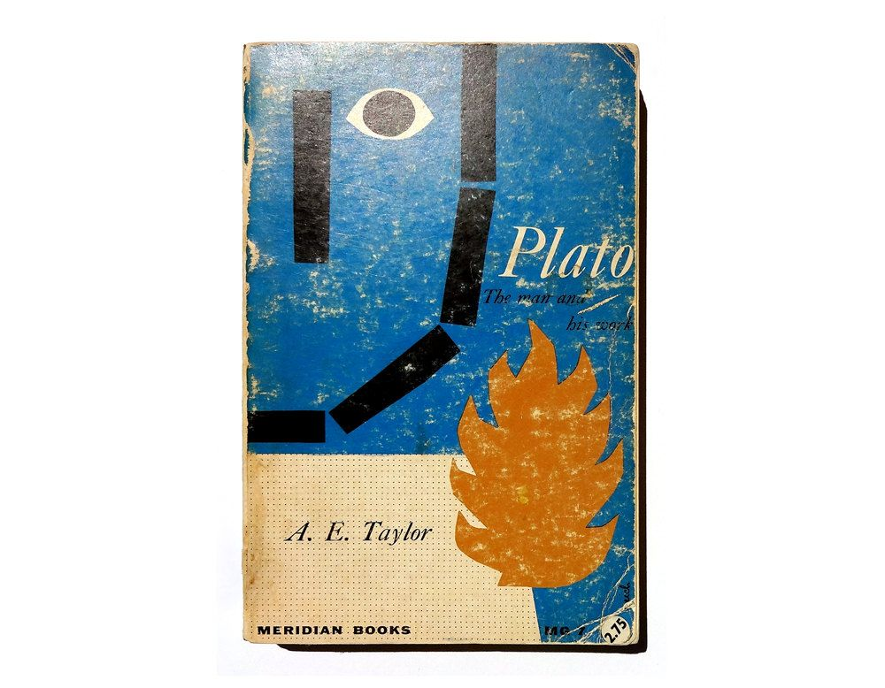 """Jack Reich paperback book cover design, 1956. """"Plato: The Man and His Work"""" by A. E. Taylor by NewDocuments on Etsy"""