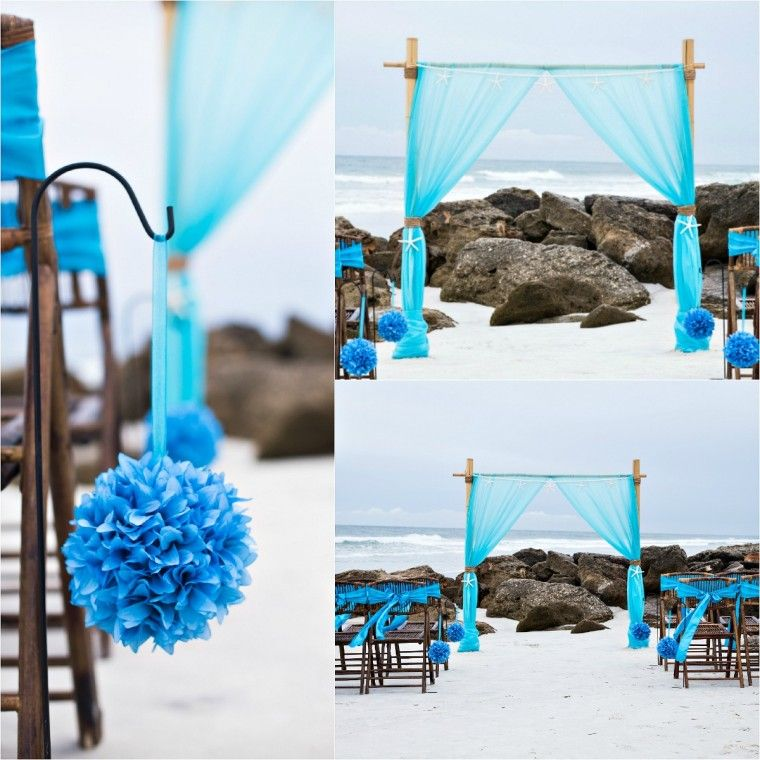 Bamboo Wedding Altar: Bamboo Arbor. Beach Wedding. Sun And Sea Beach Weddings