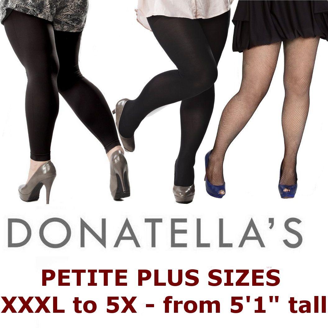 203f79c91 Donatella s Hosiery plus size petite hosiery collection XXXL to 7X ...
