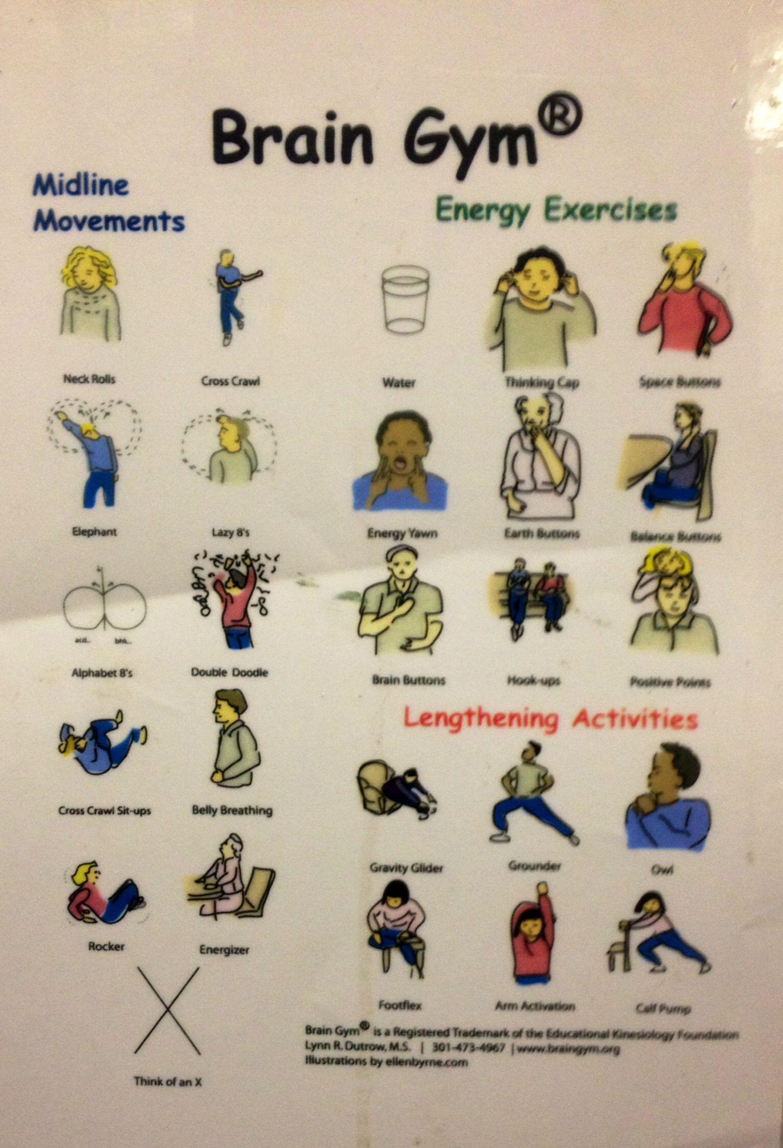 Brain Gym (With images) Brain gym, Brain gym exercises