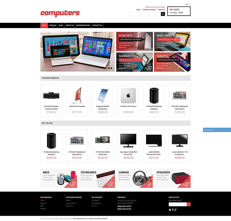 Computer Store Responsive Shopify Theme 50112 Web