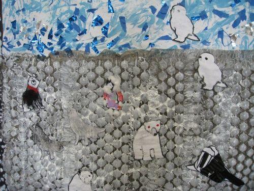 Le tour du monde en arts visuels 8 les animaux du p le nord collage th me autour du monde - Animaux pole nord ...