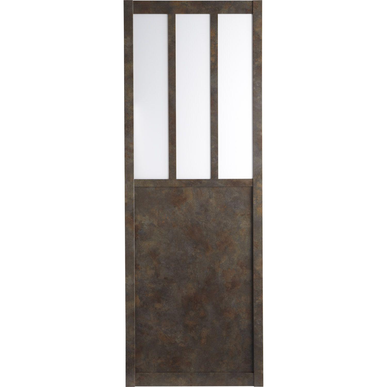 porte coulissante atelier vitr e 204 x 73 cm industri le schuifdeuren industrial sliding. Black Bedroom Furniture Sets. Home Design Ideas