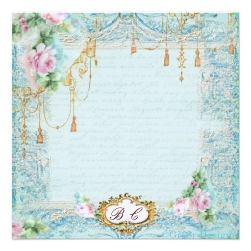 French Lace Tassels & Script Writing Custom Invites